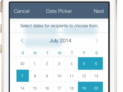 Date Picker iphone date picker calendar
