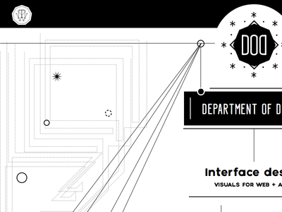 Concept for the new Department of Design websites studios constellations
