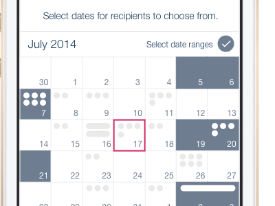 More robust version of the date picker (2014) calendar ios date picker planner scheduling apps