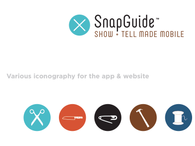 Example colorways and badge identifiers for Snapguide (2011)
