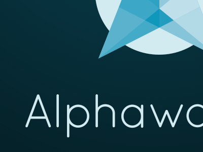 Alternate Alphaworks logo on dramalama black (2014) alphaworks logos