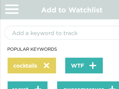 Wireframe keyword suggestion flow for Foursquare (2013) foursquare keywords ux user flows