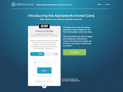 Alphaworks homepage