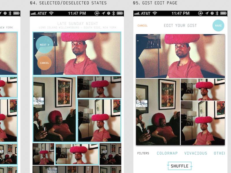 Image App Screen Concepts (2013) iphone app photos app design iphone