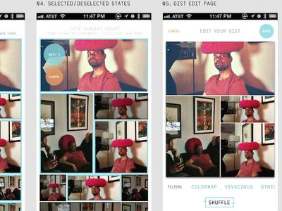 Image App Screen Concepts (2013)