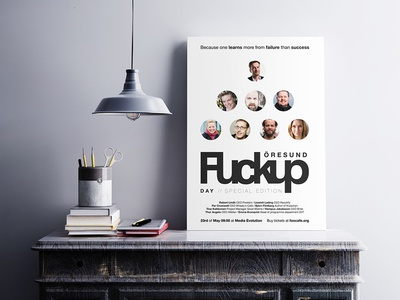 FuckUp Day Poster graphic design poster