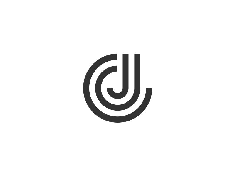 jc monogram monogram identity branding personal identity logo initials