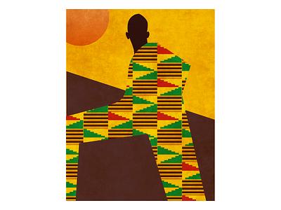 African Sun black art vector art king african man african art figma graphic design illustration print african