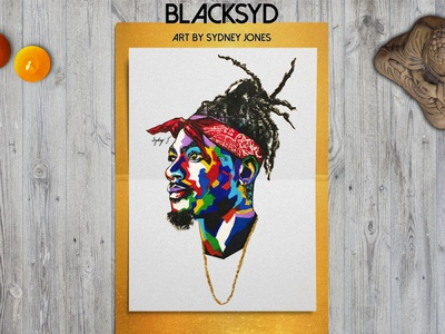 BLACKSYD Art by Sydney Jones painting