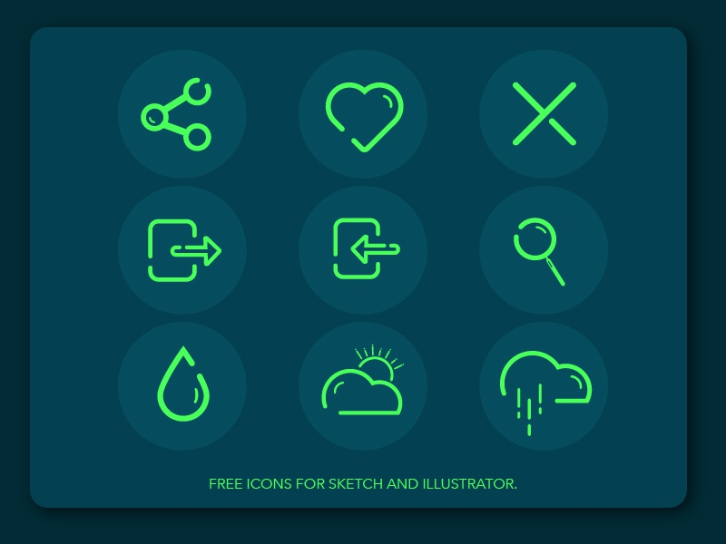 Free Icons Illustration green blue bold minimal apps mobile sketch illustration icons freebies
