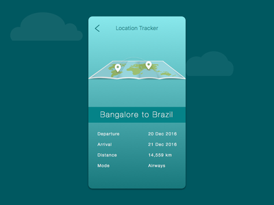 Daily UI 020 Location Tracker travel creative minimal neat map application ux ui ios design iphone location