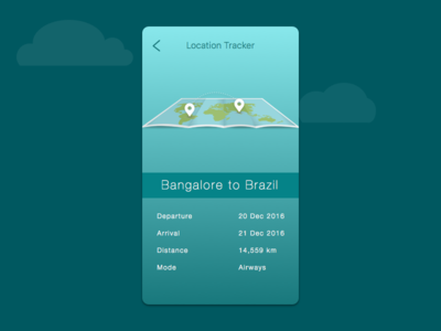 Daily UI 020 Location Tracker travel creative minimal neat map application ux ui ios design iphone location