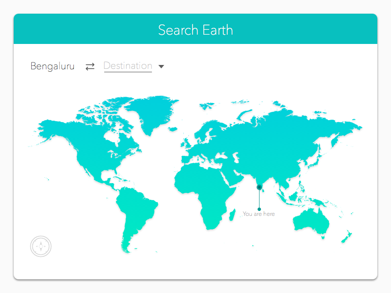 Search UI freebies travel white minimal clean uidesign website search map earth sketch