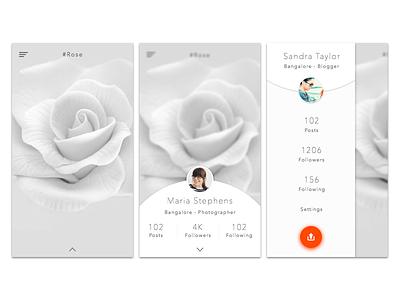 Instagram Redesign concept. creative concept interaction phone ios android iphone minimal white instagram uxdesign uidesign