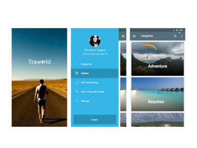Travel diary concept application mobile apple ios freebies travel creative design material android visualdesign concept