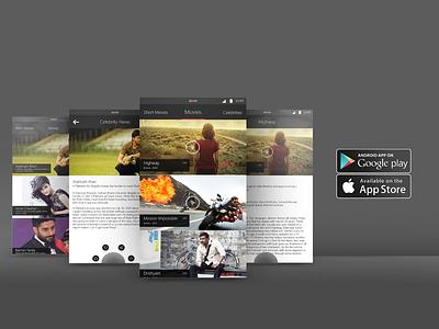 A POC for bollywood/celebrity news app. creative android ios ui ux news movies bollywood minimal app mobile