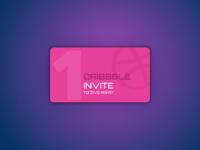 Dribbbble invite 1