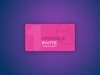 One 'Dribbble Invite' to giveaway :)