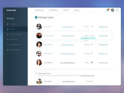 Dashboard design for a client. ui ux icon vector web modern freebie material google website minimal design dashboard