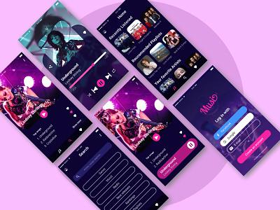 Music Player App sketchapp sketch music art mobile ui mobile app minimal daily ui dailyui daily ui flat design music app application app design mobile music player music app