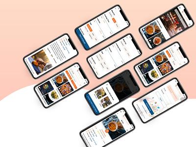 Recipe App application minimal daily ui dailyui sketchapp mobile ui mobile app app ui flat design responsive mobile food recipe app recipe