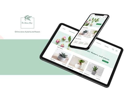 The Bloom shop web app design flower plants shop responsive tablet mobile ui design app app design ecommerce app ecommerce design ecommerce