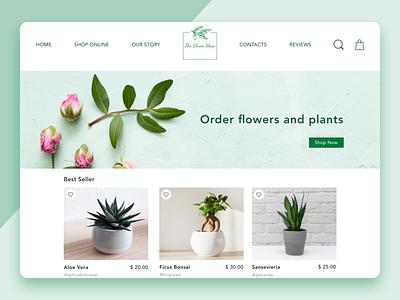 The Bloom Shop webdesign website responsive elegant ui design desktop buy flowers plants shopping app shop ecommerce shop ecommerce design ecommerce