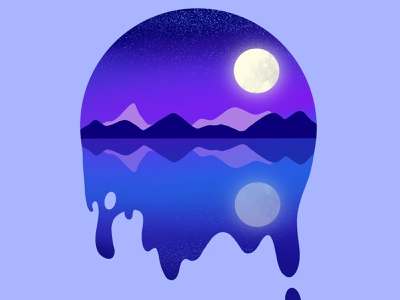 NIght Scene illustration vector illustration design landscape scene night illustration art procreate illustration