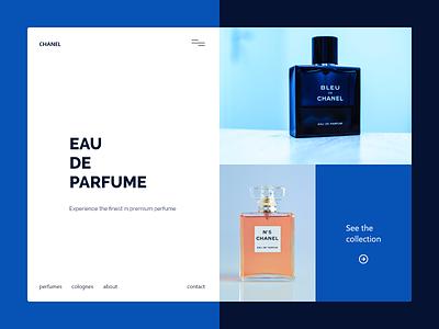 Daily UI 84 product page blue concept website flat landingpage web ui design