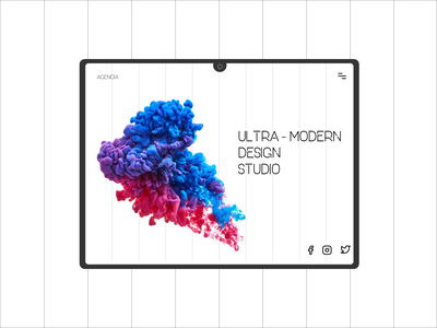 Daily UI 103 uxdesign ux  ui uidesign ui  ux uiux agency website agency ux concept xd website minimal flat landingpage ui web design