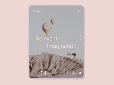 Mirage Travel uxui ui design ux design ux ui  ux uiuxdesign pink uidesign uxdesign uiux xd minimal flat landingpage web ui design