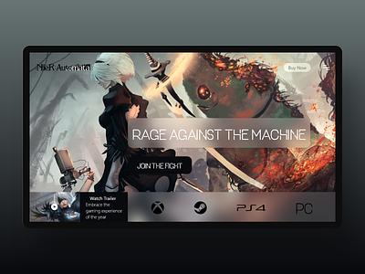 Daily UI 119 xd gaming branding flat uxdesign uiux website landingpage web ui design