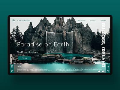 Daily UI 131 - Iceland Travel Site travel uidesign uxdesign concept website xd flat landingpage web ui design