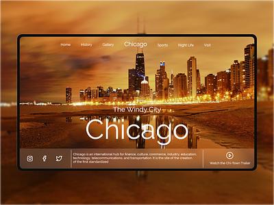 Daily UI 139 - Chicago ux ui design uxui ux uxdesign uiux minimal website xd flat landingpage web ui design