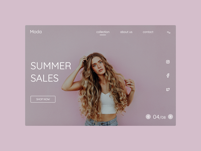 Daily UI 184 uxuidesign uiinspiration uxinspiration uxui fashion shop fashion app uidesigner uidesign uxdesign uiux minimal website xd flat landingpage web ui design