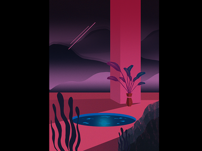 Personal Illustration futuristic illustration editorial life future space