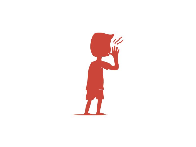 Calling Child Logotype retro child graphic design mark icon symbol logotype logo