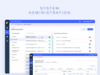 System Administration design web application flat network clean landing page ui
