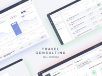 Travel Consulting dashboard travel clean ux design page web ui