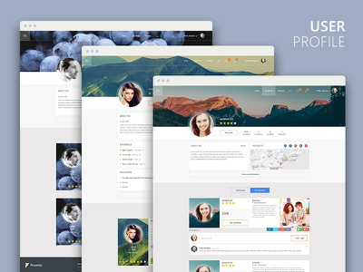 User Profile  clean ios account design web ux ui network social profile user