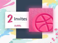 2x Dribbble Invites invitation giveaway contest shot coupon winner give dribbble invite