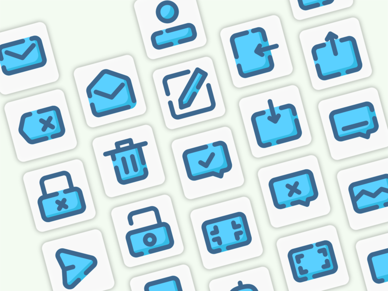 Icon design with Dashed Filled Line Style app userinterface ui icon set icons icon icon design