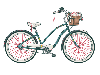 Electra Cruiser for Women bicycle electra cruiser illustration wzwz
