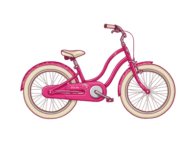 Electra Kids' Bicycle bicycle electra pink illustration wzwz
