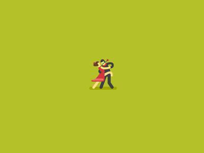 Tango illustration wzwz flat dance tango couple rose