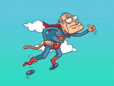 Supaoldman Rebirth oldman sky hero illustration comics superman