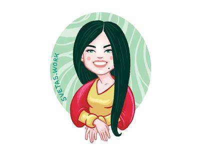 Mona Sveta character illustrator girl selfportrait portrait