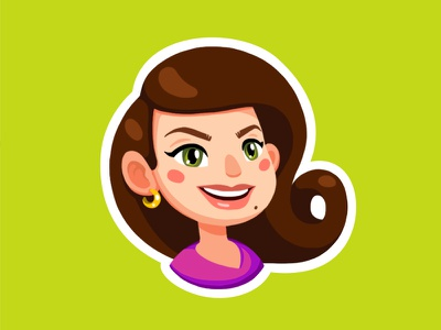 And One More! sevsve violet green caricature character portrait illustration girl