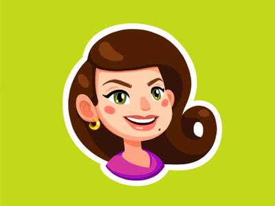 And One More! sevsve violet green caricature character portrait illustration girl