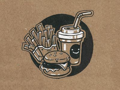 #1- Fast sevsve ink fast food inktober
